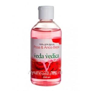 Гель для душа Роза-Алоэ вера Веда Ведика, 250мл. Veda Vedica