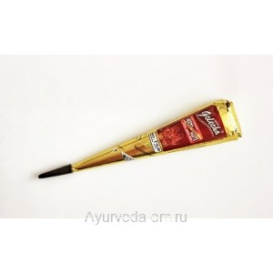 Хна коричневая в конусе, 25г. Голеча Голд (Golecha)