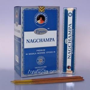 Благовония Ppure Blue Nagchampa 15gm, (Голубая НагЧампа), Индия