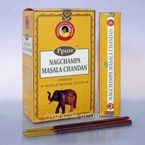 Благовония Ppure Masala Chandan 15gr (Нагчампа Масала Сандал), Индия
