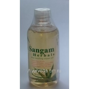 "Гель для душа с Алоэ Вера ""Персик"", 200мл., Сангам Хербалс (Sangam Herbals Body Peach)"